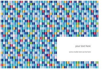 abstract background with color squares and place for text