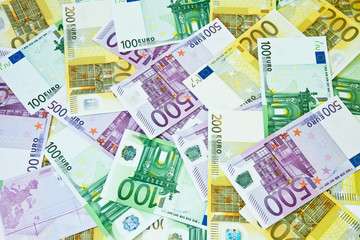 Financial euro background