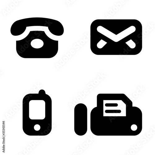 Contact information icons phone mail mobile and fax stock image contact information icons phone mail mobile and fax sciox Gallery