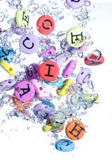 Alphabet colored background