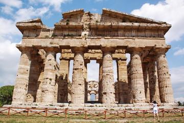 Ancient greek temple in Paestum, Italy