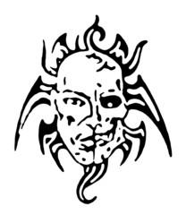 Skull hand draw