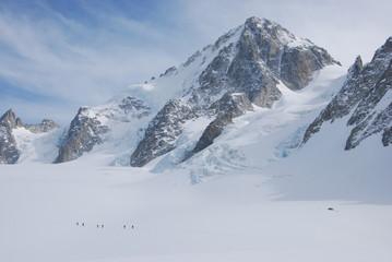 glacier et aiguille du chardonnet