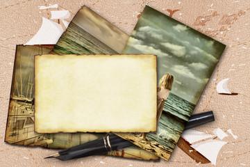 Abstract frame marine theme