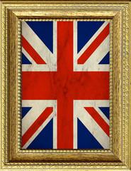 Bandiera della Gran Bretagna incorniciata