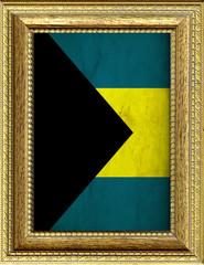 Bandiera delle Bahamas incorniciata