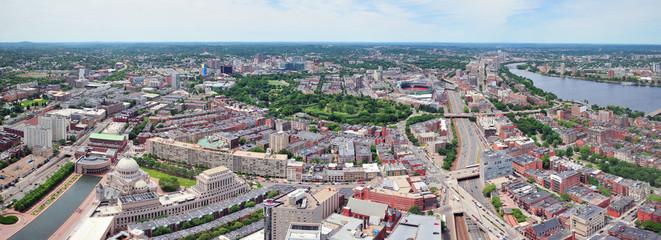 Boston aerial panorama