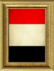 Bandiera dell'Egitto incorniciata