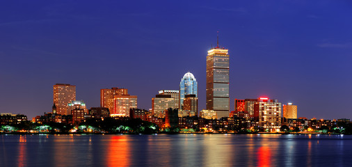 Fototapete - Boston city urban skyscrapers