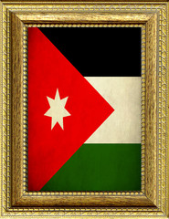 Bandiera della Giordania incorniciata