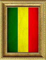Bandiera del Mali incorniciata