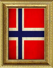 Bandiera della Norvegia incorniciata