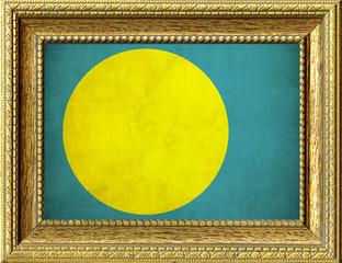 Bandiera del Palau incorniciata