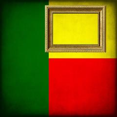 Bandiera del Benin con cornice personalizzabile