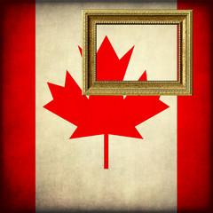 Bandiera del Canada con cornice personalizzabile