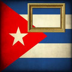 Bandiera di Cuba con cornice personalizzabile