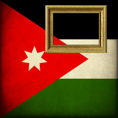 Bandiera della Giordania con cornice personalizzabile