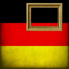 Bandiera della Germania con cornice personalizzabile