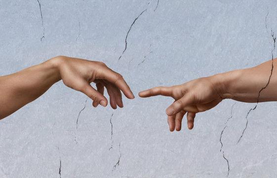 Michelangelo: die Erschaffung Adams