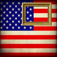 Bandiera degli Stati Uniti con cornice personalizzabile