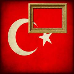 Bandiera della Turchia con cornice personalizzabile