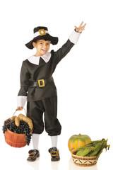 Waving Young Pilgrim