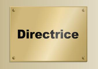 Plaque_Fonction_Directrice