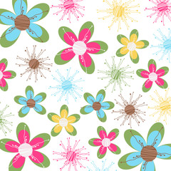 floral card, fabric texture