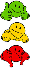 Smileys 2 Thumbs Green/Yellow/Red