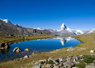 Stelisee with the Matterhorn