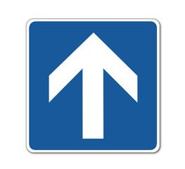 Einbahnstraße, Verkehrsschild