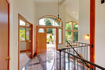 New luxury home entrance