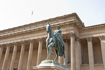 Queen Victoria on Horseback outside St Georges Hall Liverpool
