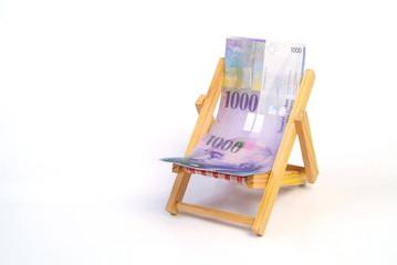 Liegestuhl mit 1000 Franken / H