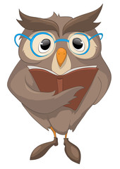 Cartoon Character Funny Owl