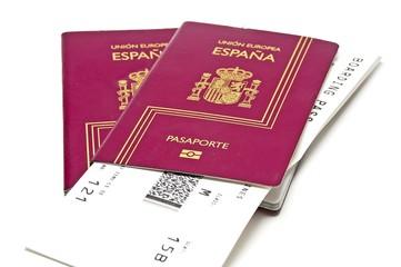 Pasaporte con billetes de avión