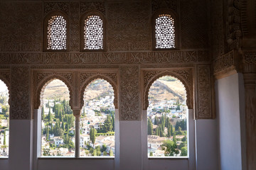 Wall Mural - Alhambra de Granada. The Albaicin from The Oratory