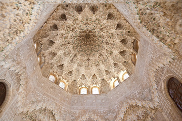 Wall Mural - Alhambra de Granada. The Hall of the Two Sisters vault