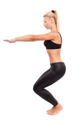 Young woman doing aerobics