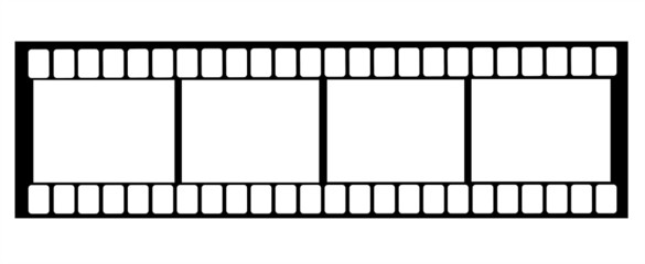 Frame for pictures in a film on a white background