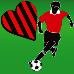 I love the Red and Black football club