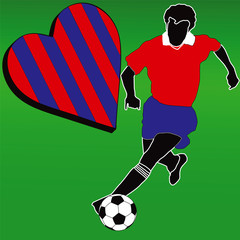 I love the Red and Blue football club