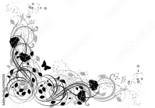 Coin noir et blanc fichier vectoriel libre de droits sur for Dessin graphique noir et blanc