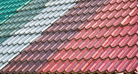 Colorful tiled roof