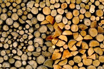 Fototapeta stos drewna obraz