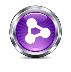 Network computing connection Internet button Icon