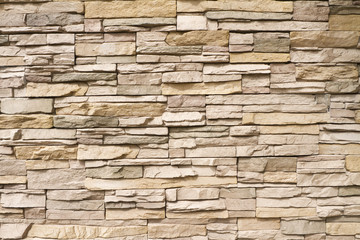 Stacked stone wall background horizontal