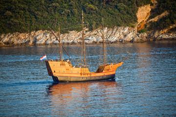 The ancient old ship, Dubrovnik, Coatia