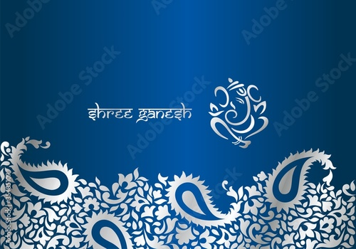 Traditional Hindu Wedding Card Design India Stock Image And