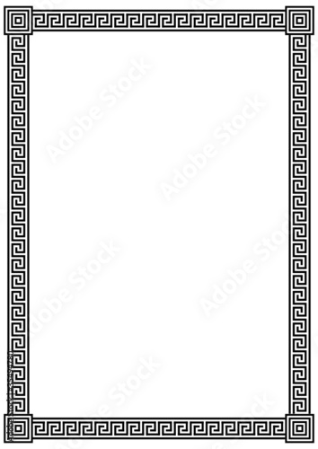 """""""Vector frame with ancient Greek meander pattern"""" Stock ..."""